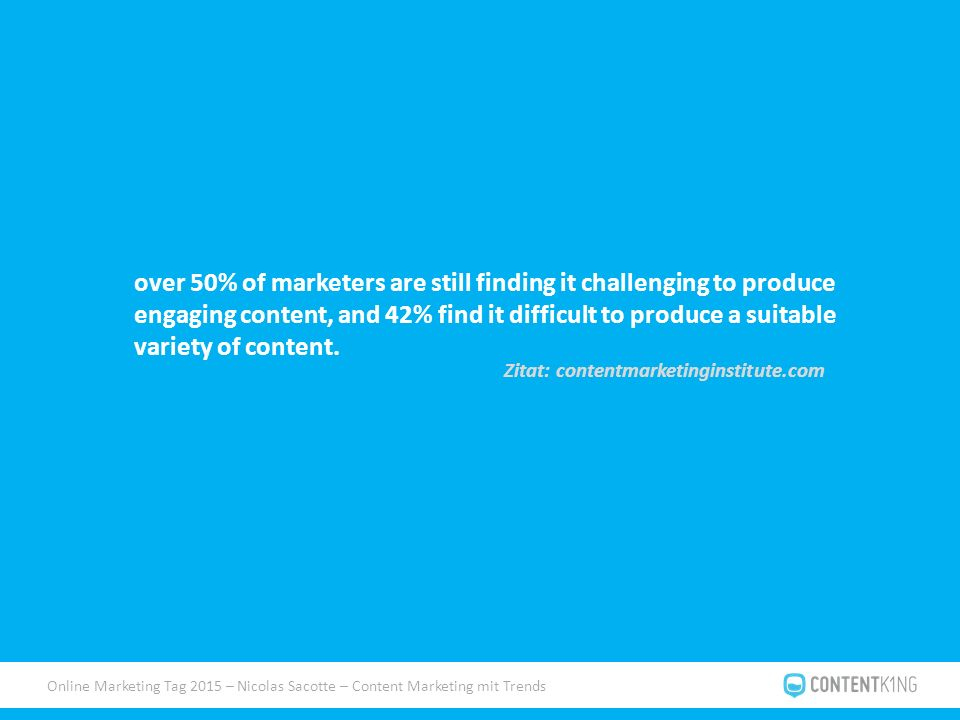 Online Marketing Tag 2015 – Nicolas Sacotte – Content Marketing mit Trends Case Study Trivago.de Trend: Bier/Craft Bier Format: Ratgeber Kanäle: FB, Pinterest, Twitter, Bloggeroutreach Ziel: SEO/Linkbuilding, Shares