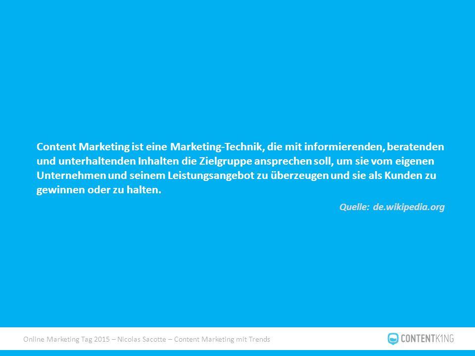 Online Marketing Tag 2015 – Nicolas Sacotte – Content Marketing mit Trends WOW.