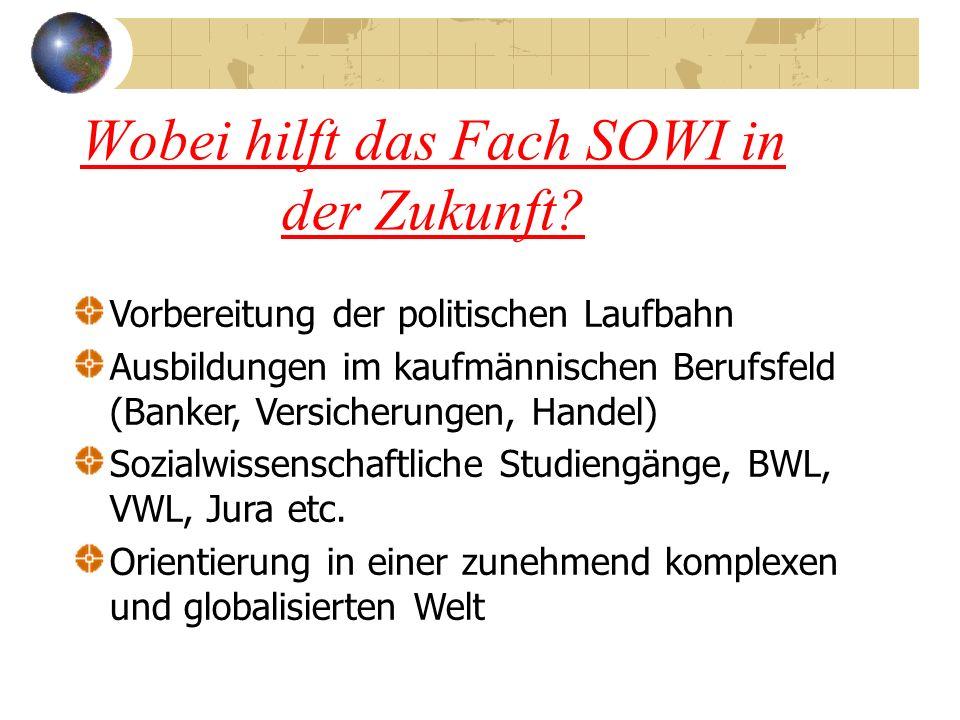 Wobei hilft das Fach SOWI in der Zukunft.