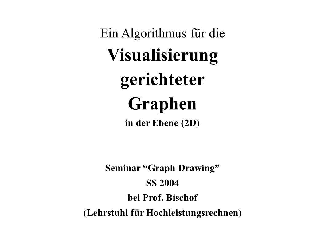 Seminar Graph Drawing - Ein Algorithmus für die Visualisierung gerichteter GraphenGunter Ohrner VGG 1 Ein Algorithmus für die Visualisierung gerichtet