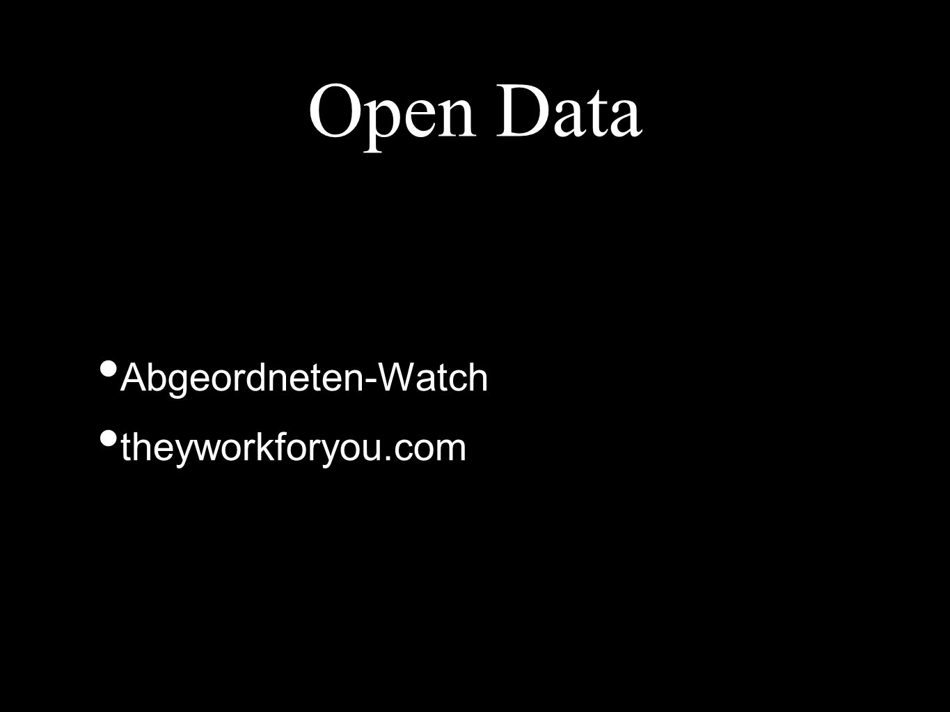 Open Data Abgeordneten-Watch theyworkforyou.com