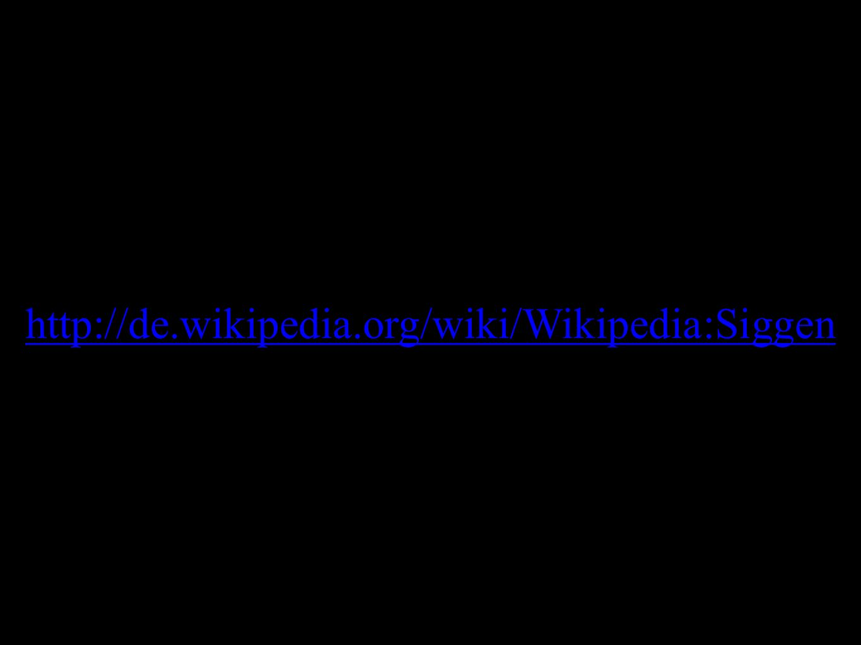 http://de.wikipedia.org/wiki/Wikipedia:Siggen