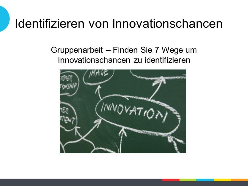 Identifizieren von Innovationschancen Gruppenarbeit – Finden Sie 7 Wege um Innovationschancen zu identifizieren
