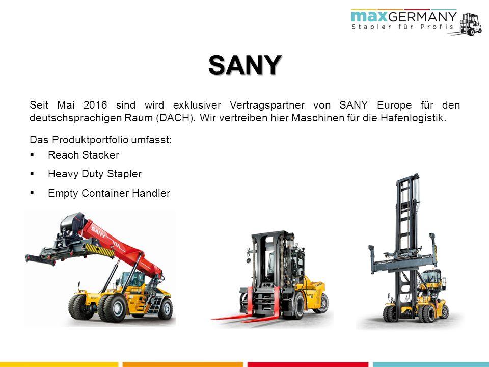 SANY Seit Mai 2016 sind wird exklusiver Vertragspartner von SANY Europe für den deutschsprachigen Raum (DACH).