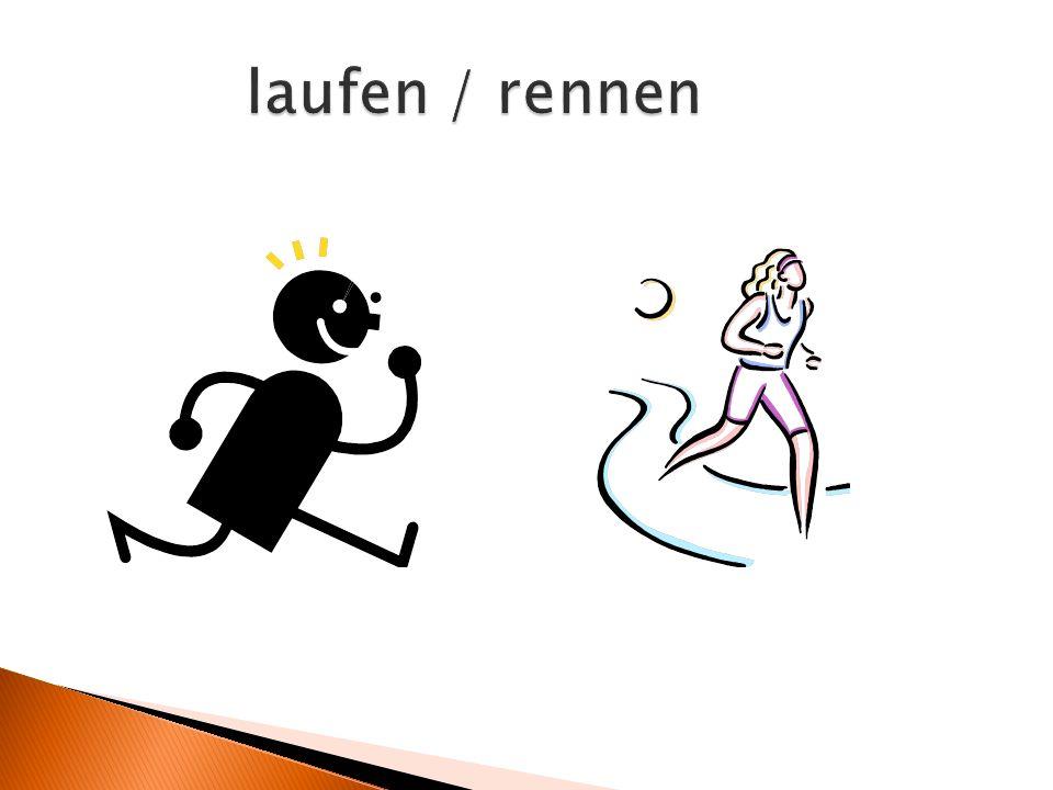 laufen / rennen