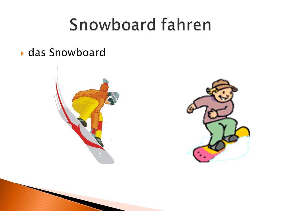  das Snowboard
