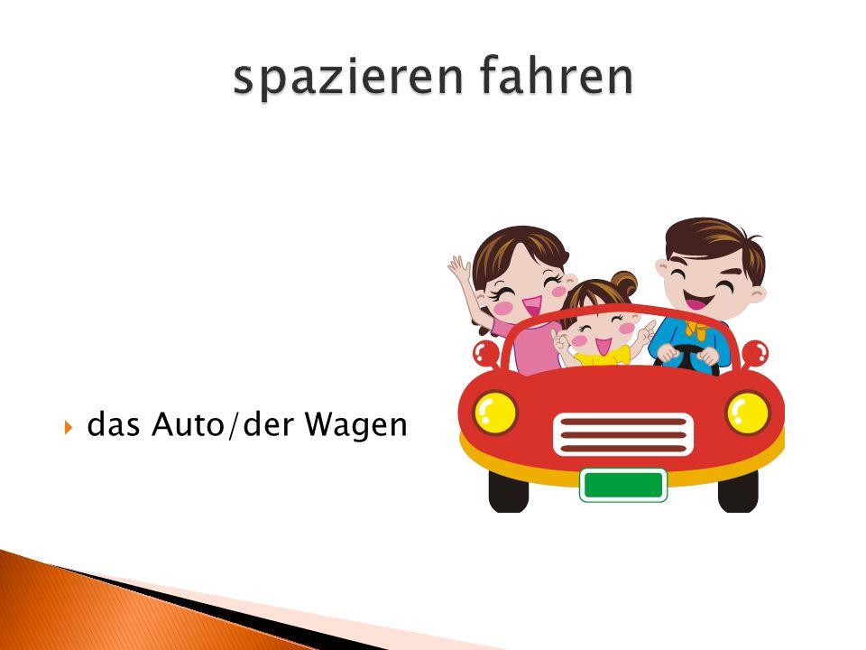  das Auto/der Wagen