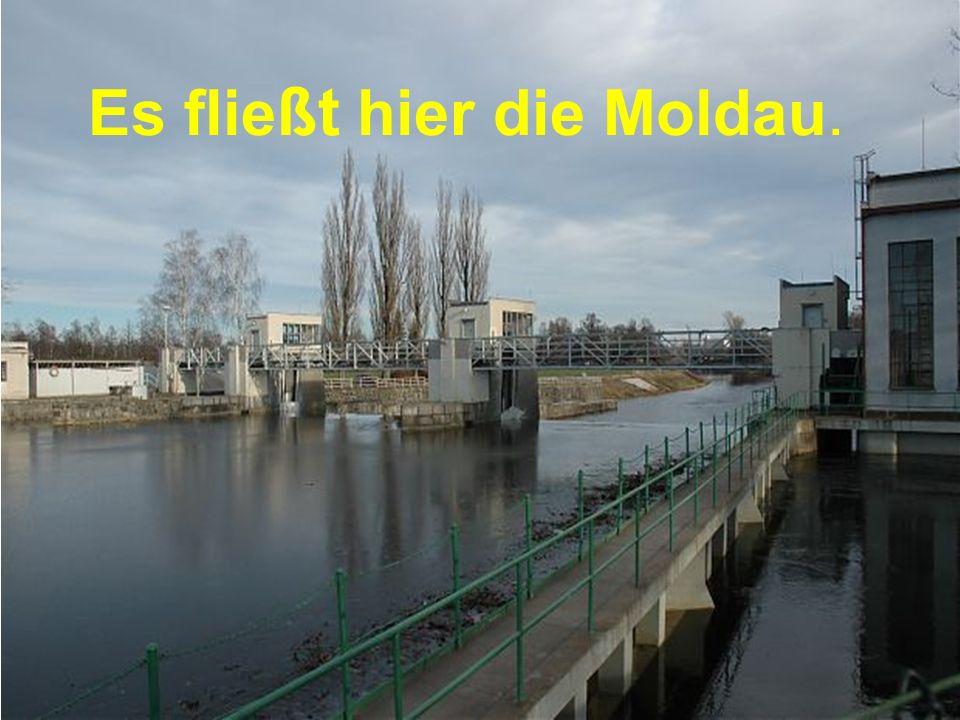 Es flie ßt hier die Moldau.