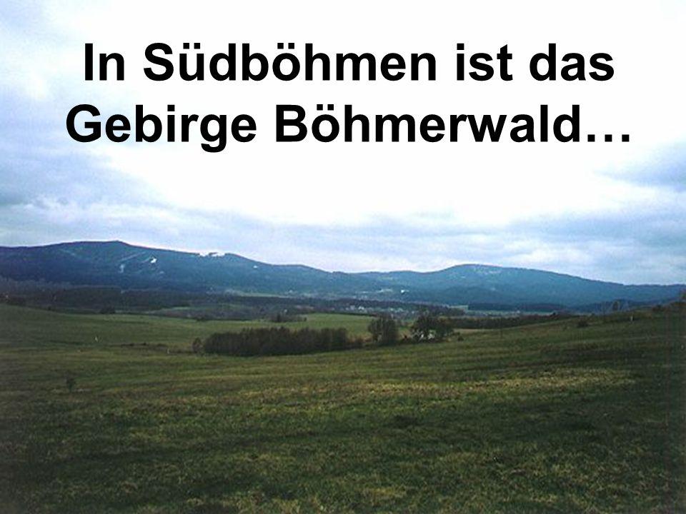 In Südböhmen ist das Gebirge Böhmerwald…