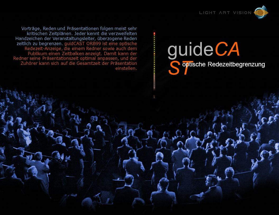 guidecast ORB99 Vorträge, Reden und Präsentationen folgen meist sehr kritischen Zeitplänen.