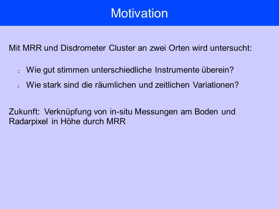 Motivation Wie gut stimmen unterschiedliche Instrumente überein.