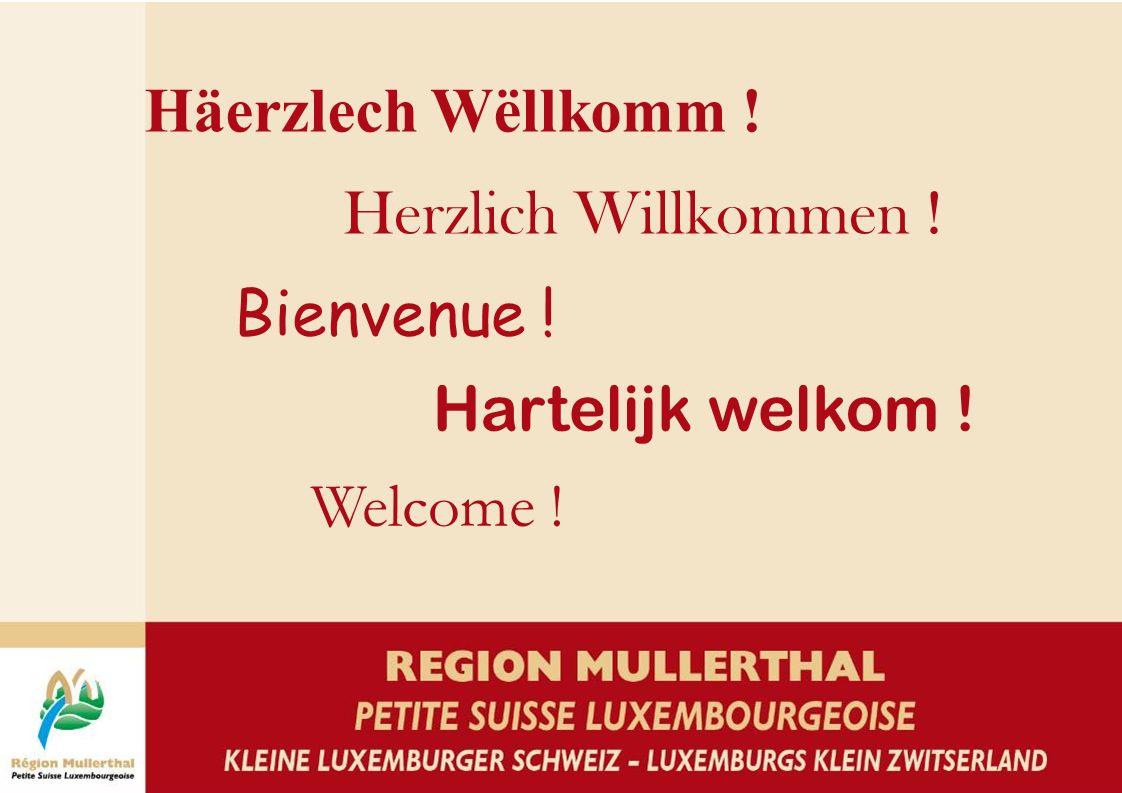 Häerzlech Wëllkomm ! Herzlich Willkommen ! Bienvenue ! Hartelijk welkom ! Welcome !