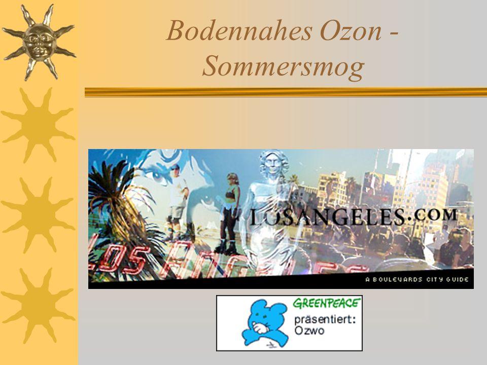 Bodennahes Ozon - Sommersmog