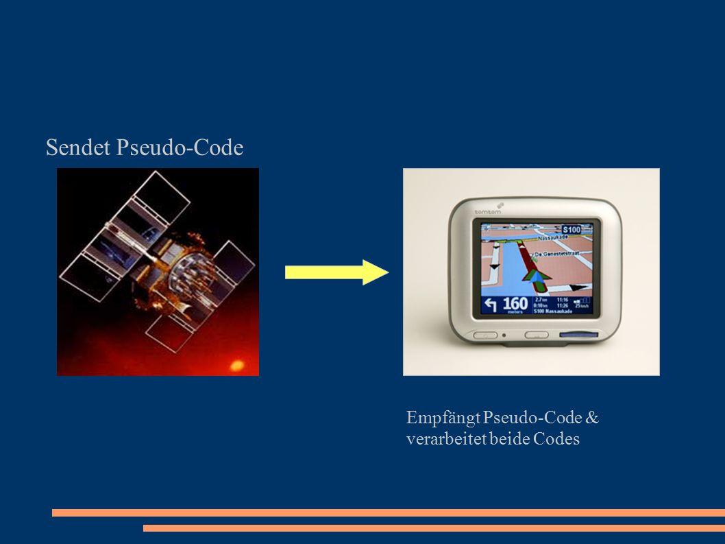 Sendet Pseudo-Code Empfängt Pseudo-Code & verarbeitet beide Codes