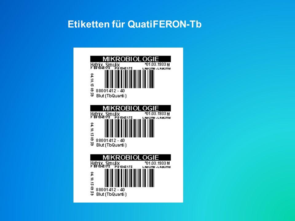Etiketten für QuatiFERON-Tb