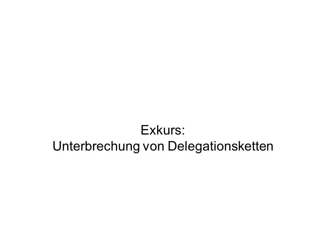 Exkurs: Unterbrechung von Delegationsketten