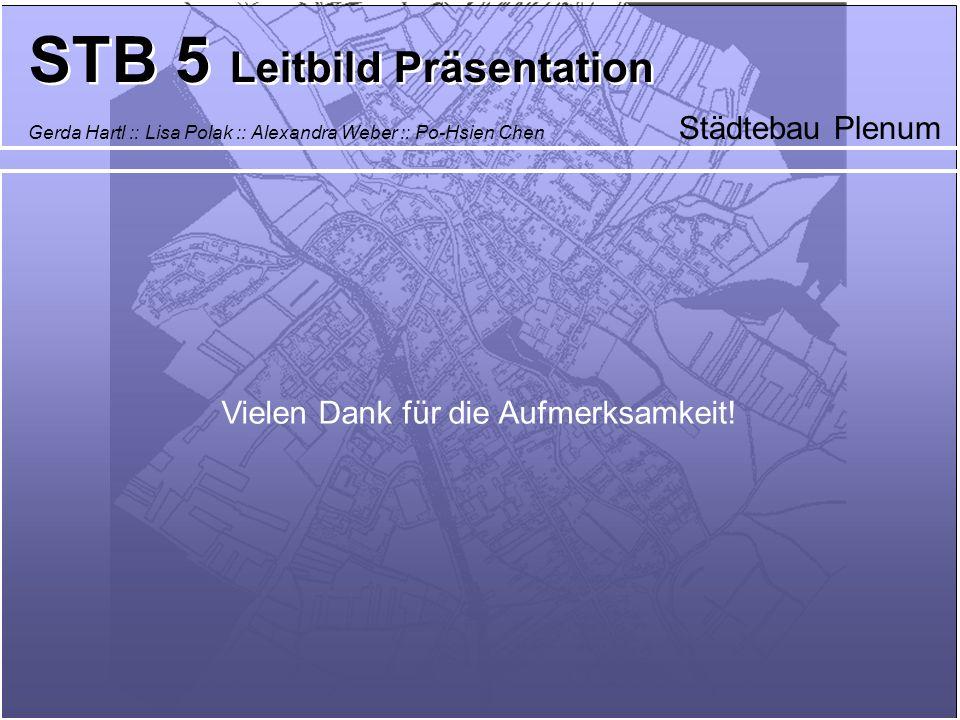 Städtebau Plenum STB 5 Leitbild Präsentation Gerda Hartl :: Lisa Polak :: Alexandra Weber :: Po-Hsien Chen Vielen Dank für die Aufmerksamkeit!
