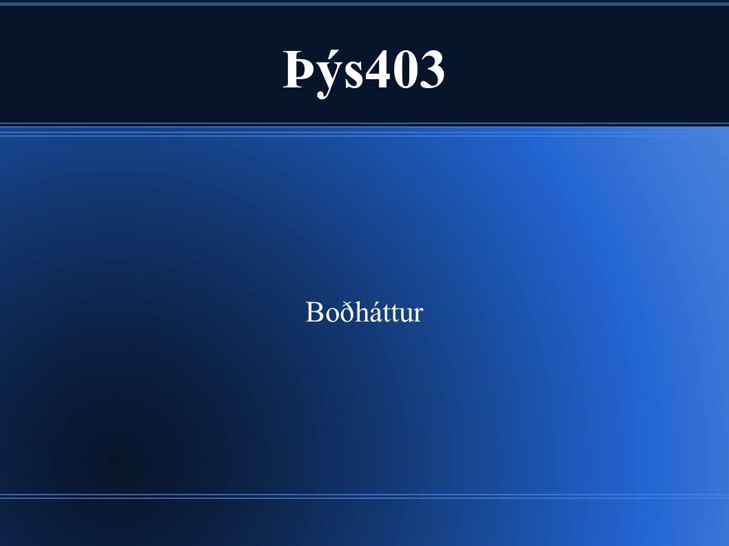 Þýs403 Boðháttur