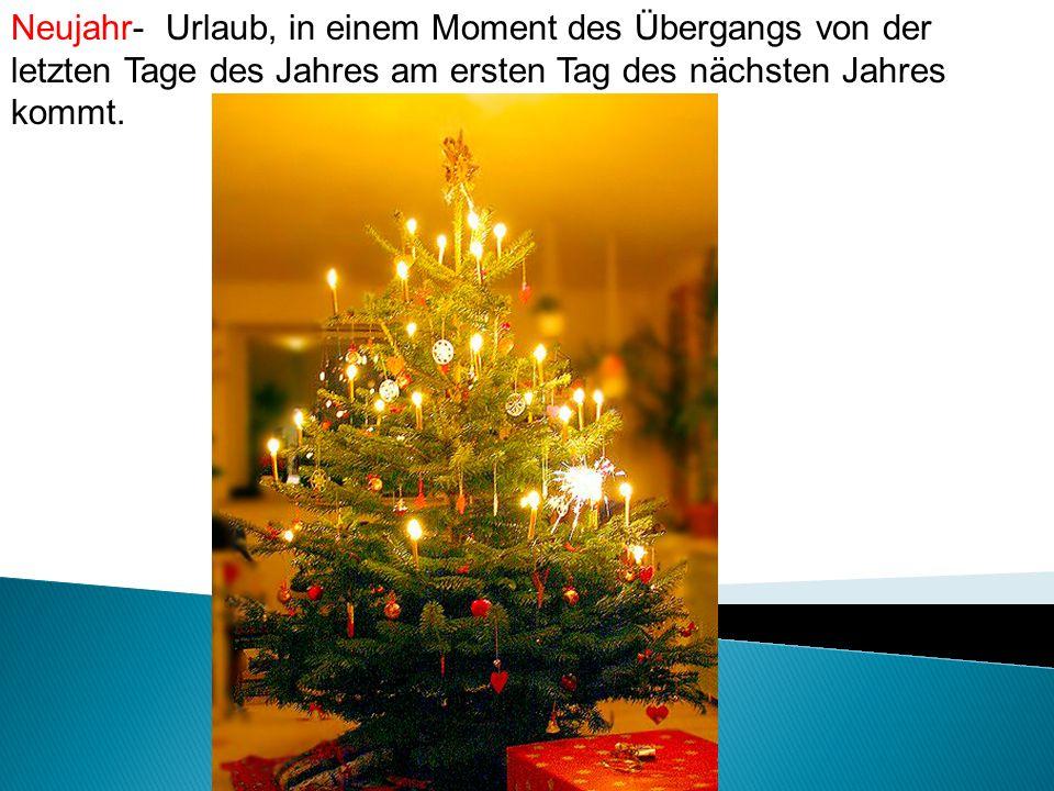 Neujahr- Urlaub, in einem Moment des Übergangs von der letzten Tage des Jahres am ersten Tag des nächsten Jahres kommt.