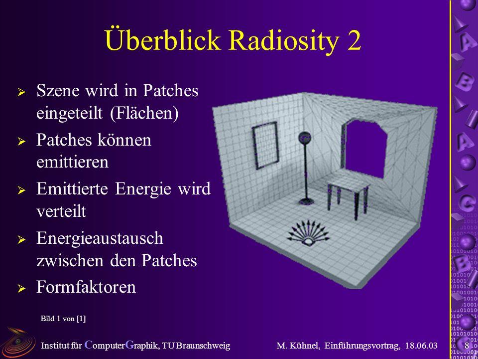 Institut für C omputer G raphik, TU Braunschweig M.