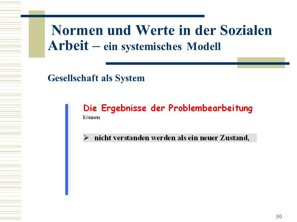 30 Normen und Werte in der Sozialen Arbeit – ein systemisches Modell Gesellschaft als System