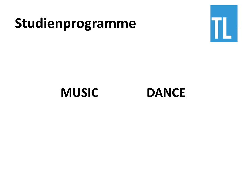Studienprogramme MUSIC DANCE