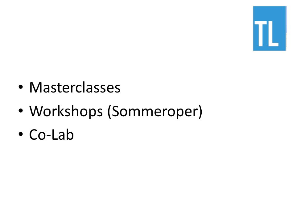 Masterclasses Workshops (Sommeroper) Co-Lab