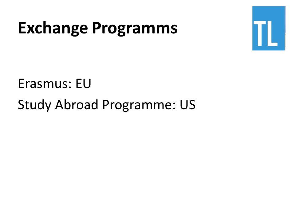 Exchange Programms Erasmus: EU Study Abroad Programme: US
