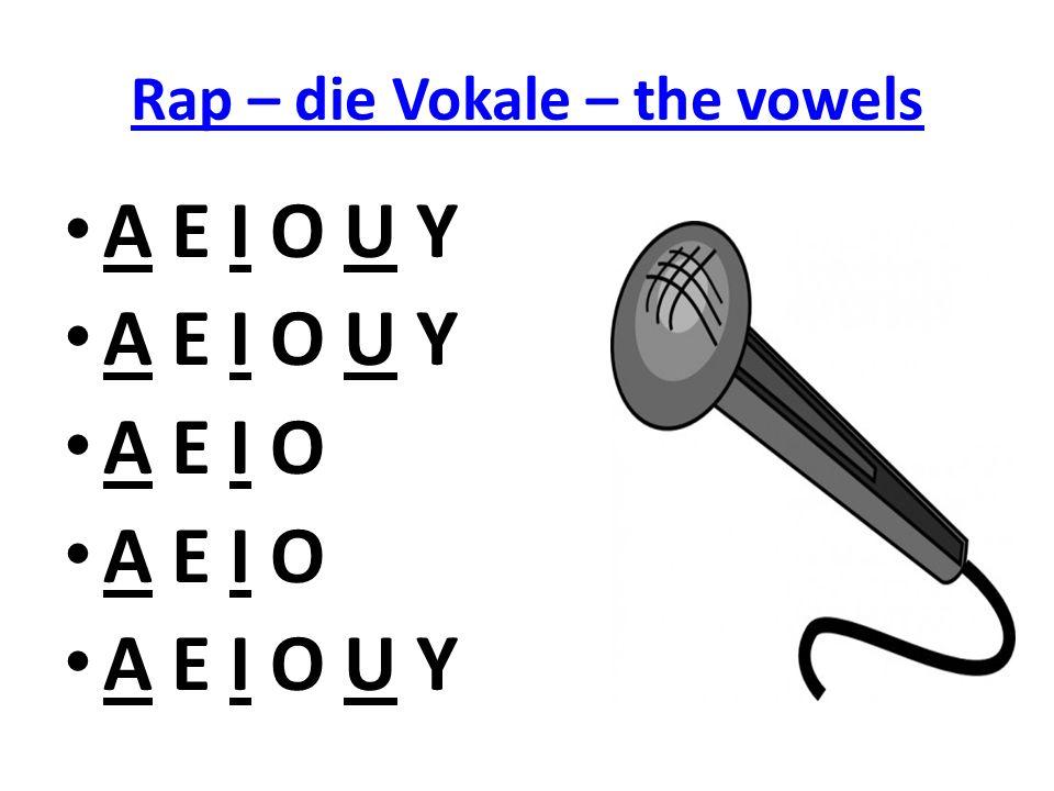Rap – die Vokale – the vowels A E I O U Y A E I O A E I O U Y