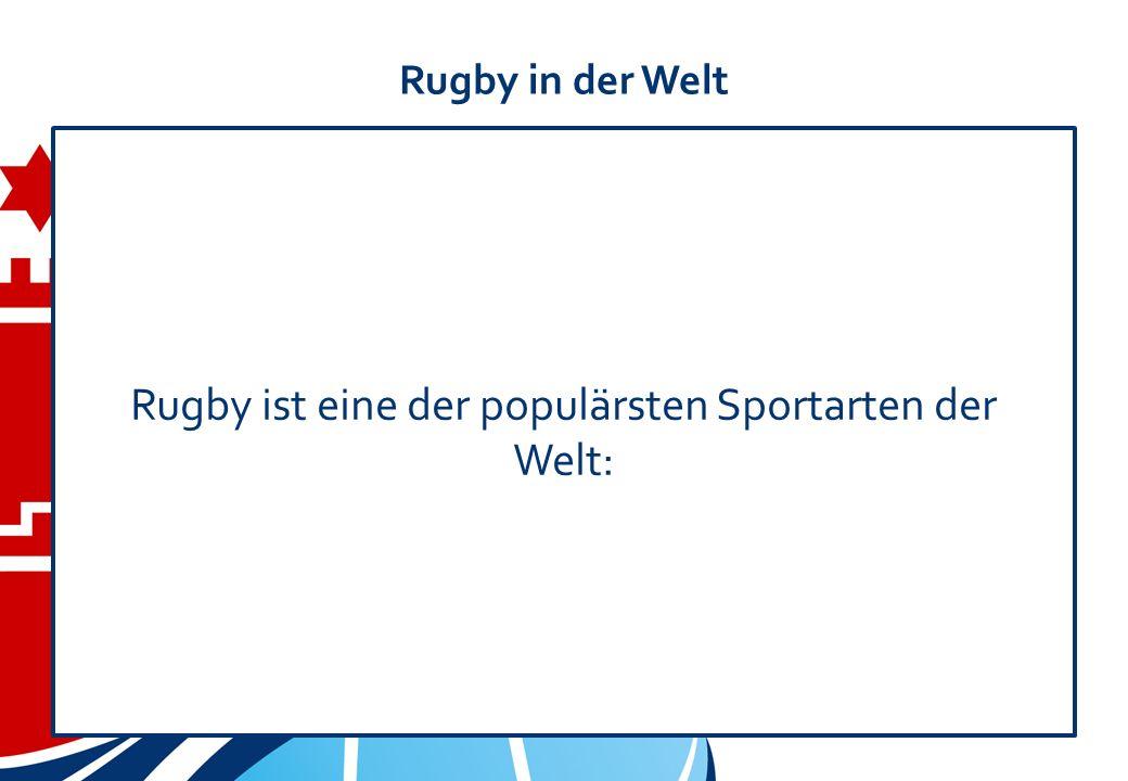 Rugby in der Welt Rugby ist eine der populärsten Sportarten der Welt:
