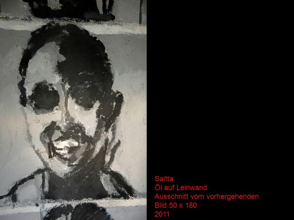 Saitta Öl auf Leinwand Ausschnitt vom vorhergehenden Bild 50 x 180 2011