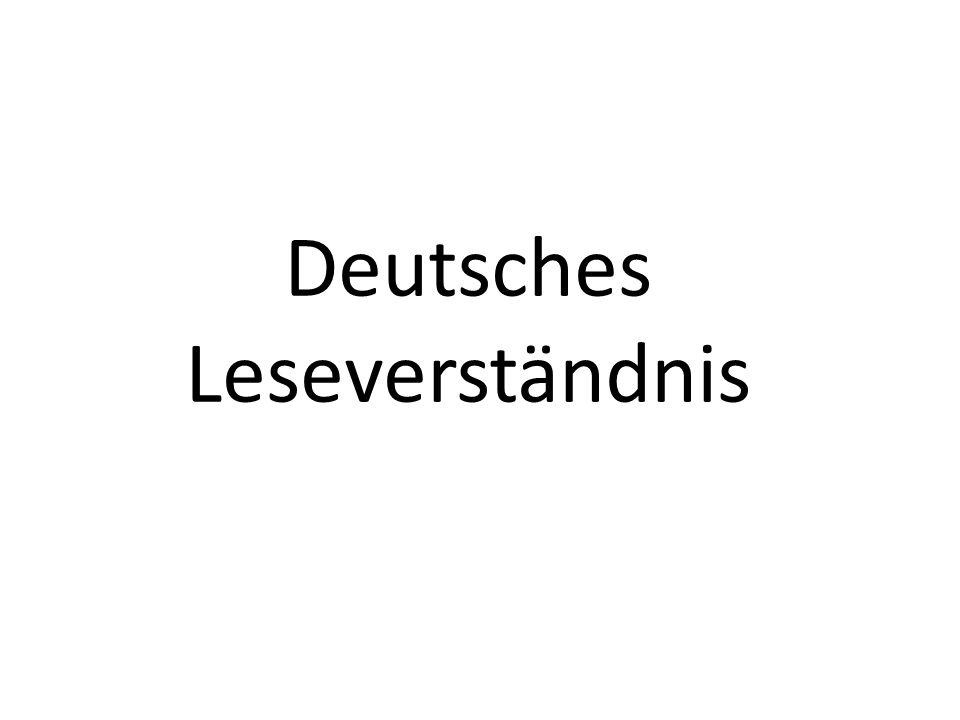 41 Deutsches Leseverständnis