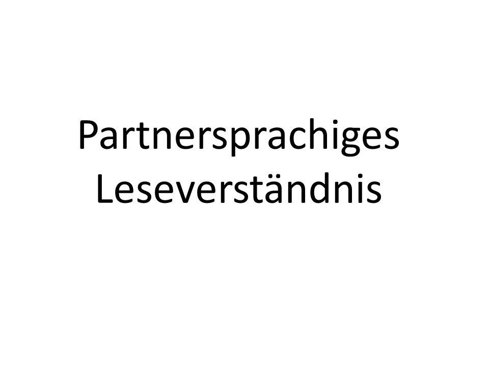 54 Partnersprachiges Leseverständnis
