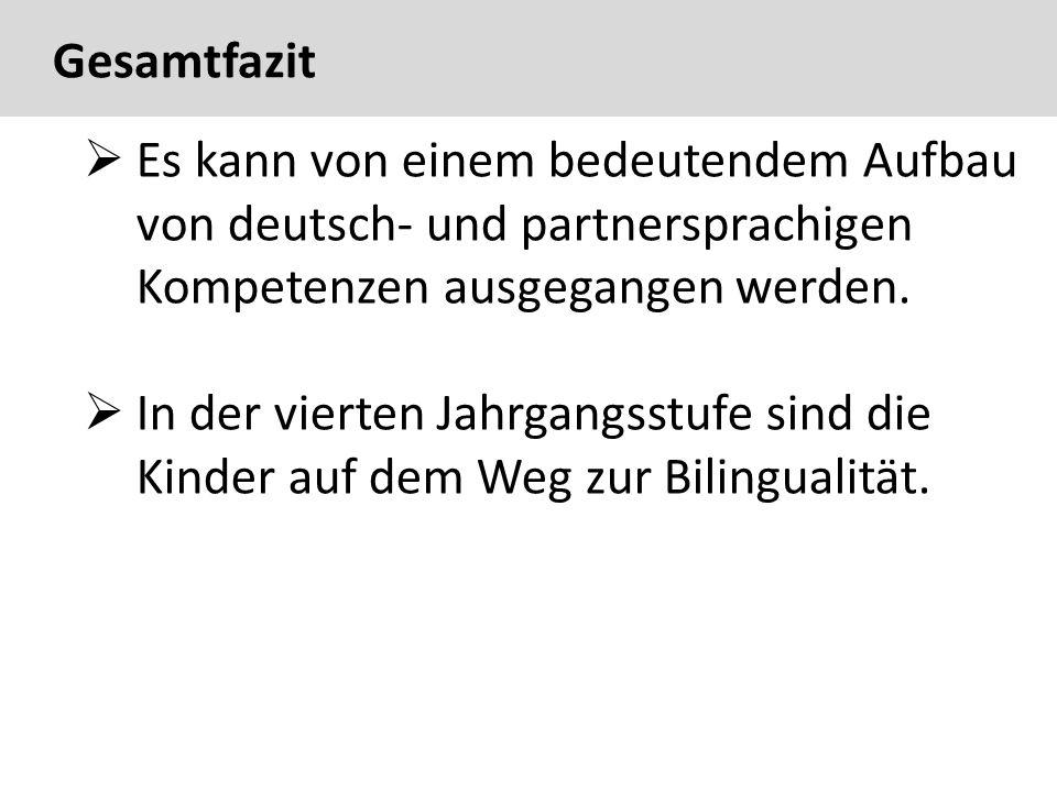 61  Es kann von einem bedeutendem Aufbau von deutsch- und partnersprachigen Kompetenzen ausgegangen werden.