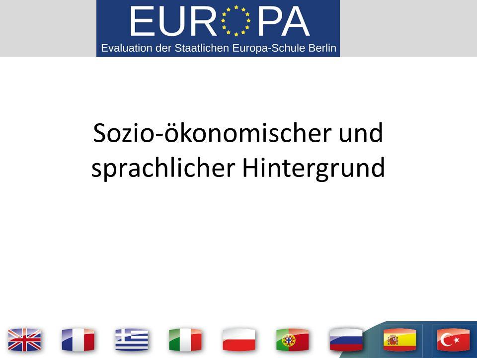 Sozio-ökonomischer und sprachlicher Hintergrund