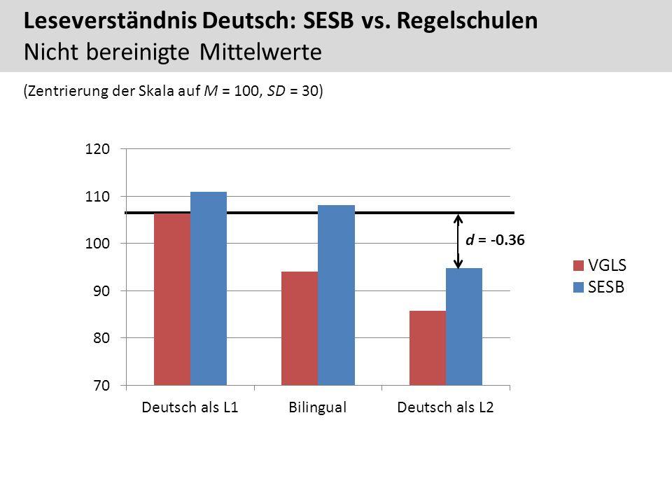 Leseverständnis Deutsch: SESB vs.
