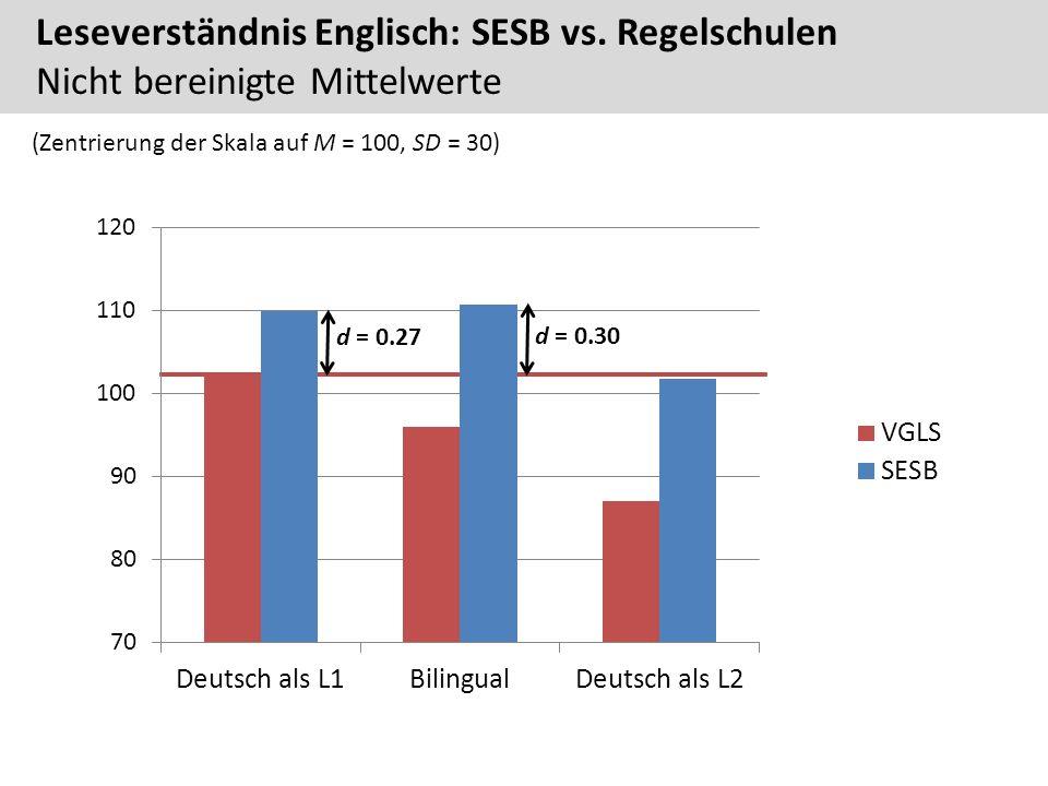 Leseverständnis Englisch: SESB vs.