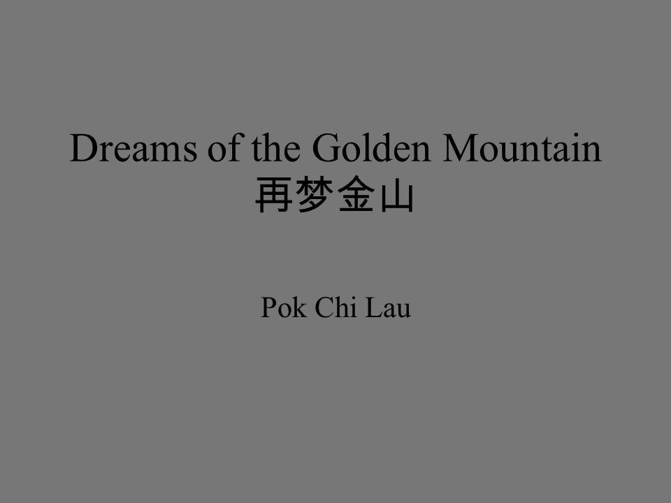 Dreams of the Golden Mountain 再梦金山 Pok Chi Lau