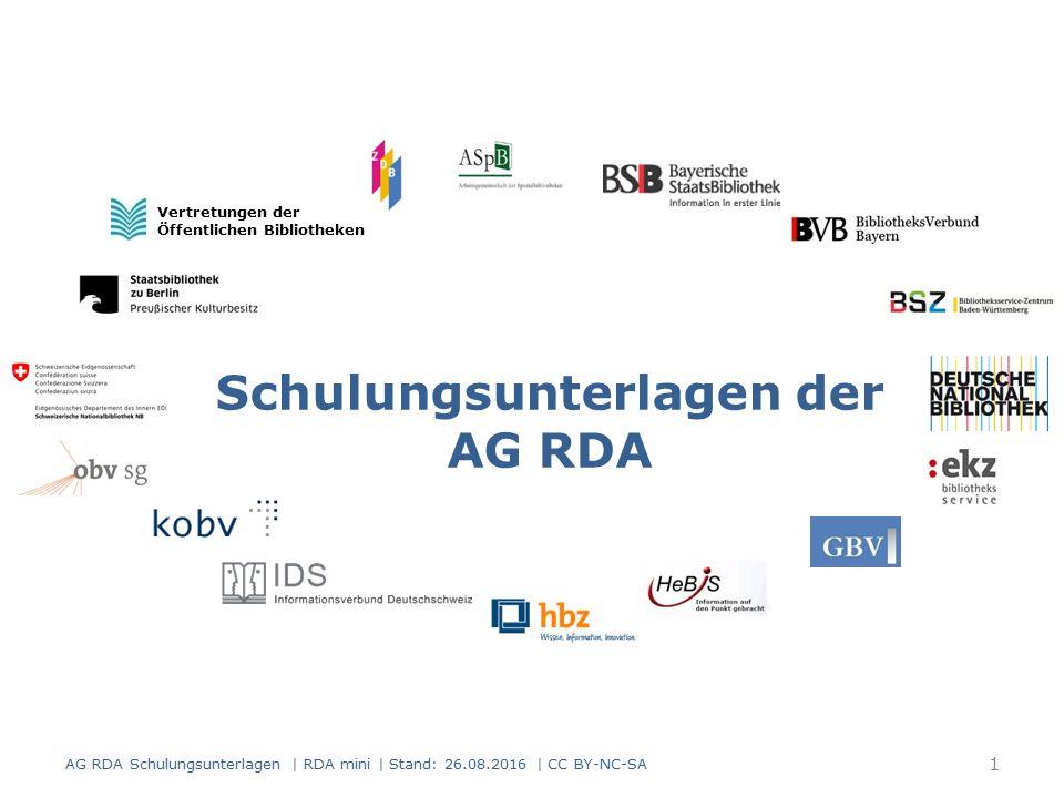 Reproduktionen Modul 5A.05 42 AG RDA Schulungsunterlagen | RDA mini | Stand: 26.08.2016 | CC BY-NC-SA