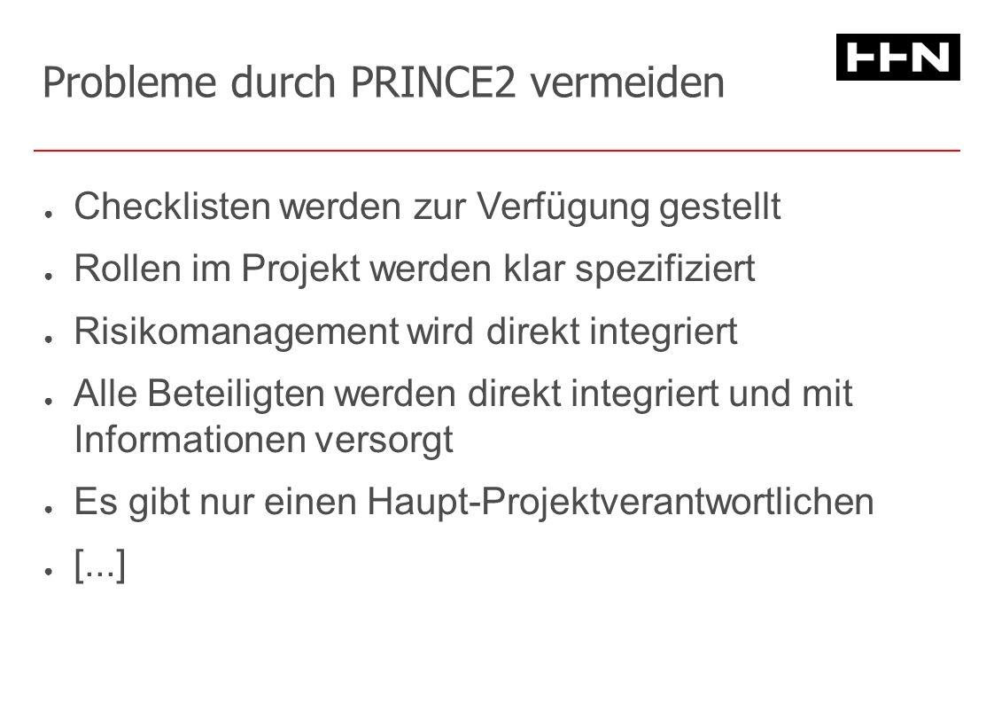 Project Initiation (Project Planning) Qualitätslevel festlegen Risikoanalyse erstellen Einfache Controlling & Reporting-Strukturen einführen Entscheidung: Lohnt es sich wirklich das Projekt zu starten.