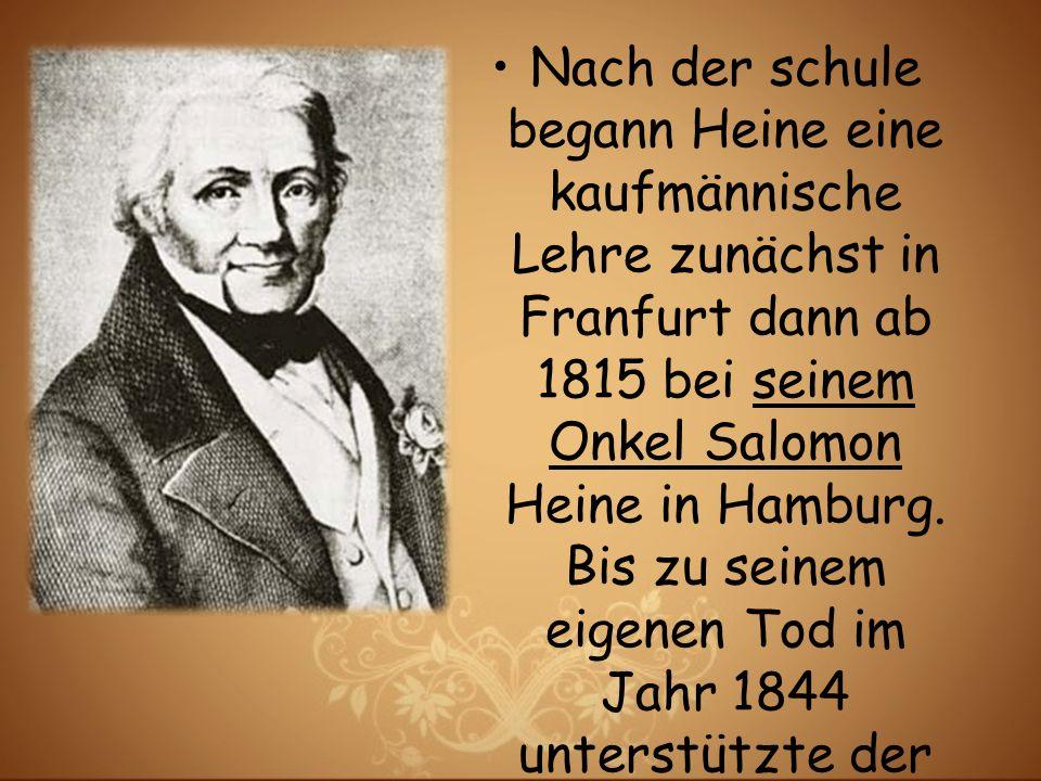 1821 erschien die erste Sammlung der Gedichte von Heine.