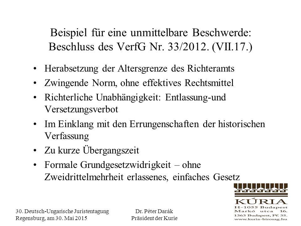 30.Deutsch-Ungarische Juristentagung Regensburg, am 30.