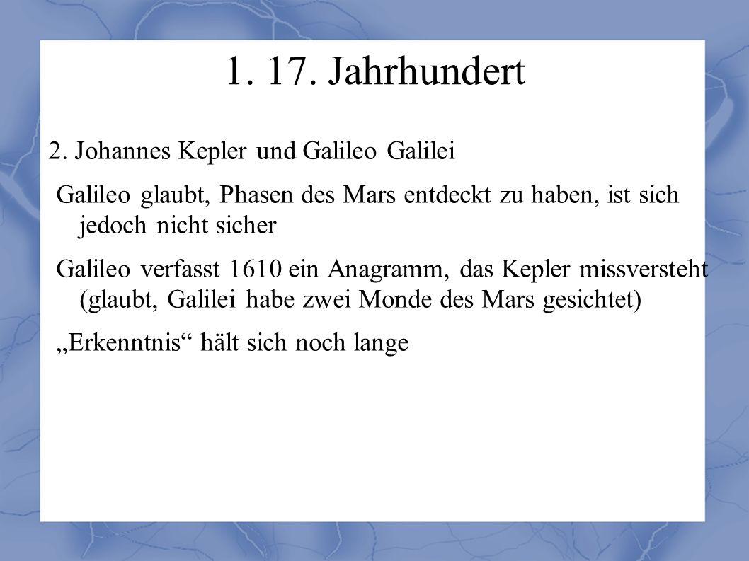 1. 17. Jahrhundert 2.