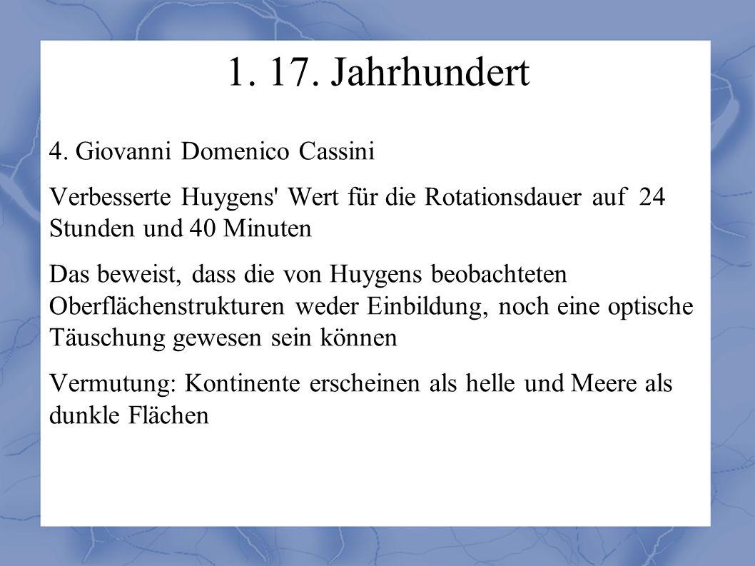 1. 17. Jahrhundert 4.