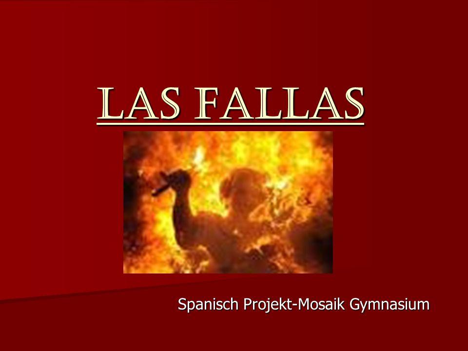 Las Fallas Spanisch Projekt-Mosaik Gymnasium