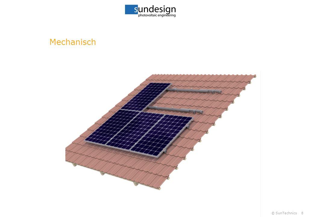 © SunTechnics9 Mechanisch Klemmbereich ¼ Modullängseite NEU kurze Seite Abstand zwischen Modulen ~2cm Evtl.