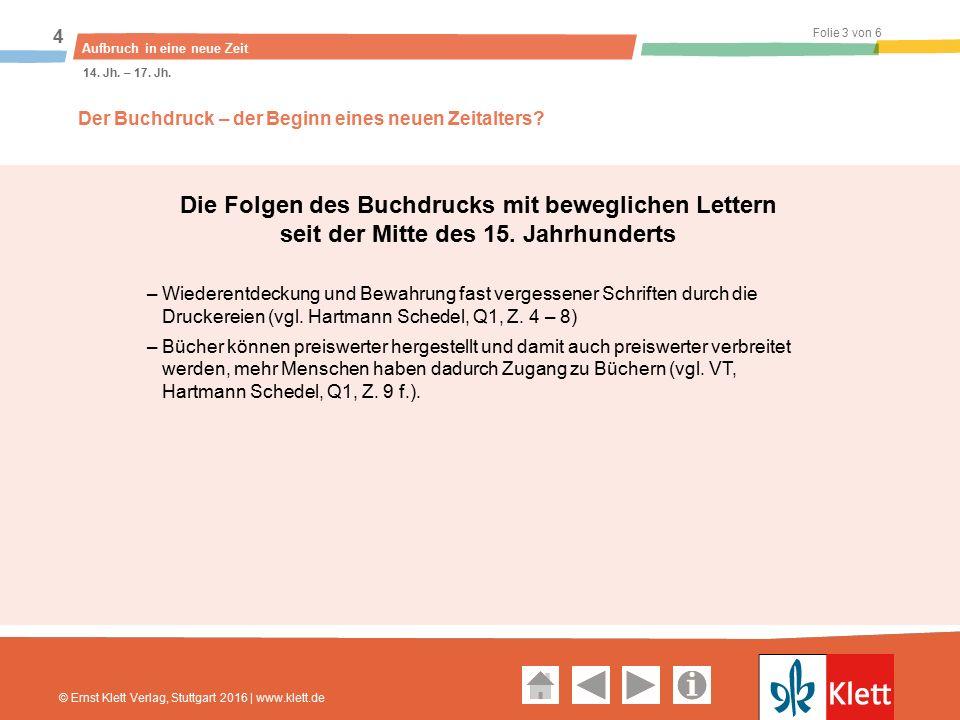 Geschichte und Geschehen Oberstufe Folie 4 von 6 Aufbruch in eine neue Zeit 4 14.