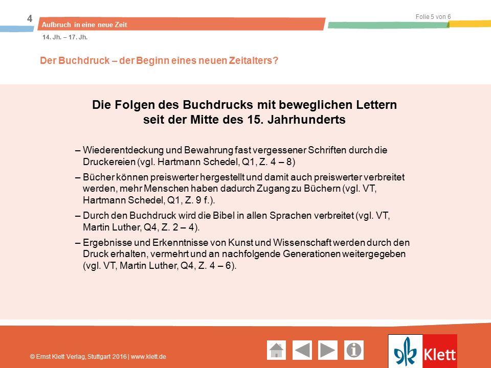 Geschichte und Geschehen Oberstufe Folie 5 von 6 Aufbruch in eine neue Zeit 4 14.