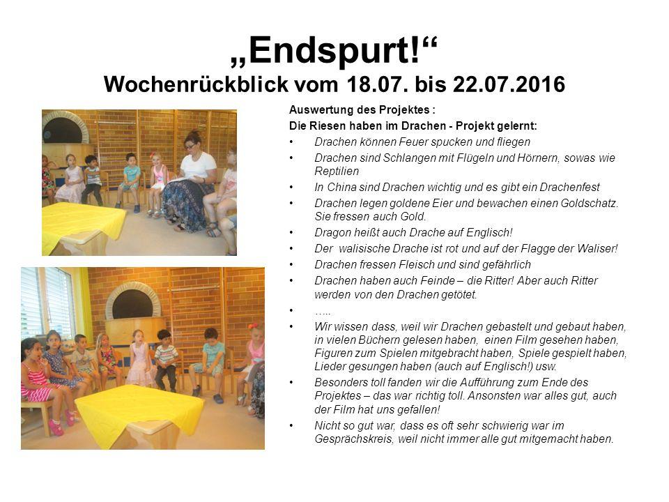 """""""Endspurt! Wochenrückblick vom 18.07."""