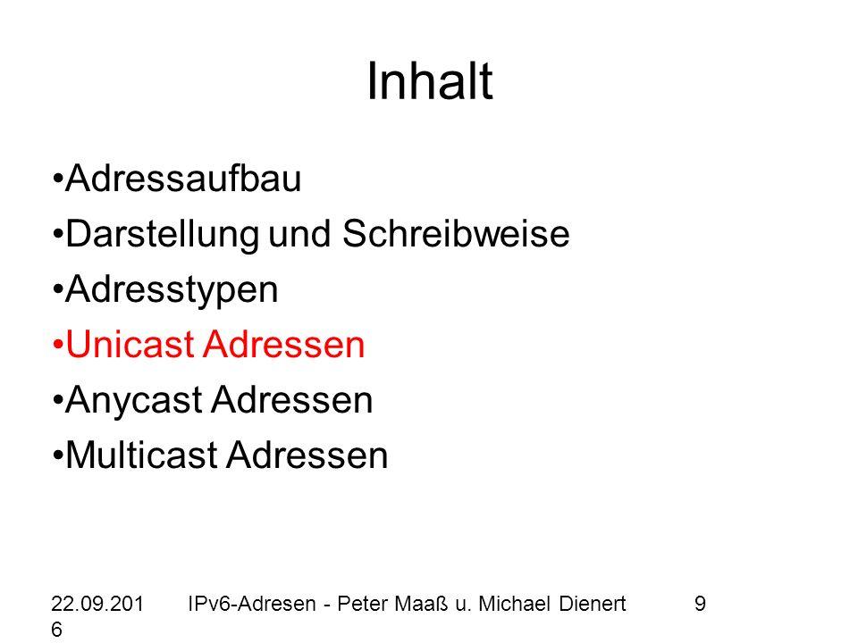 22.09.2016 IPv6-Adresen - Peter Maaß u.